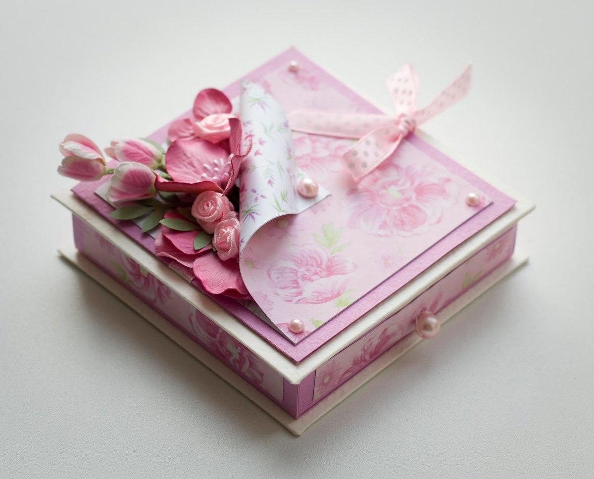 Как сделать подарочную коробку Подарок своими руками 18