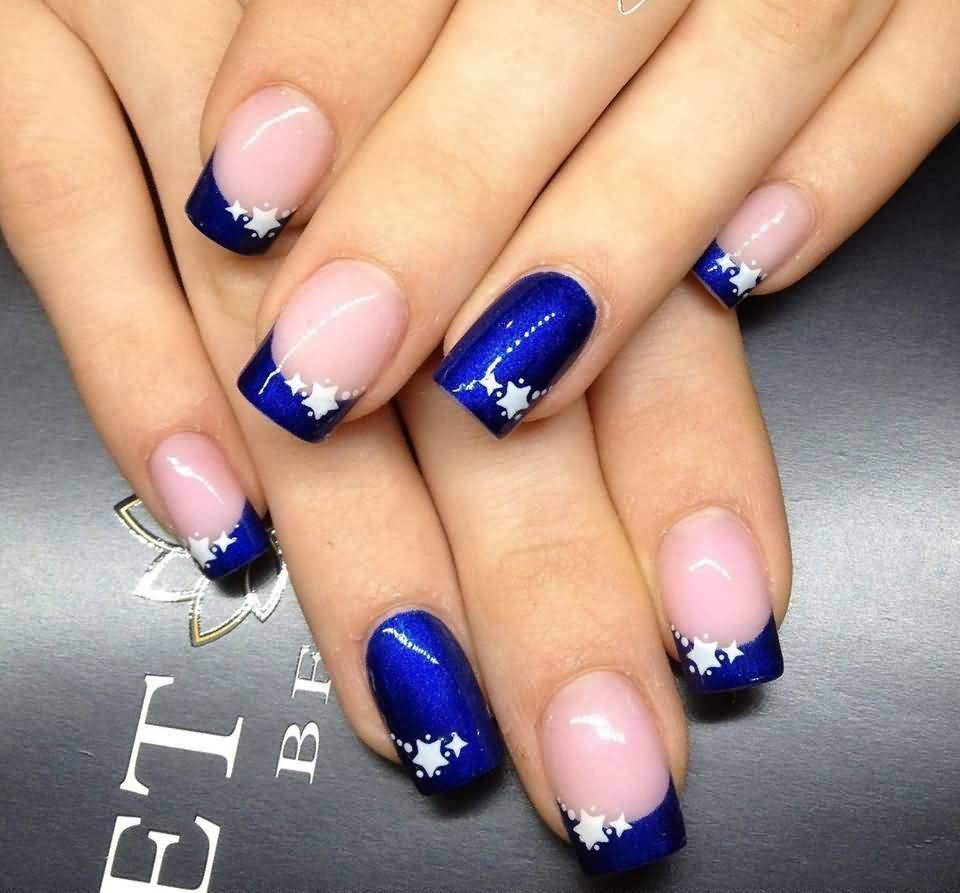 Какие ногти под синее платье