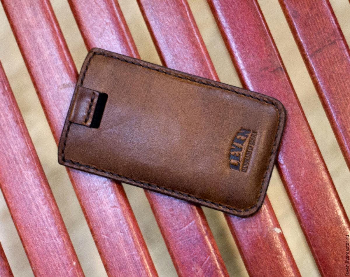 Мастер-класс по пошиву кожаного чехла для телефона (Iphone SE) 94