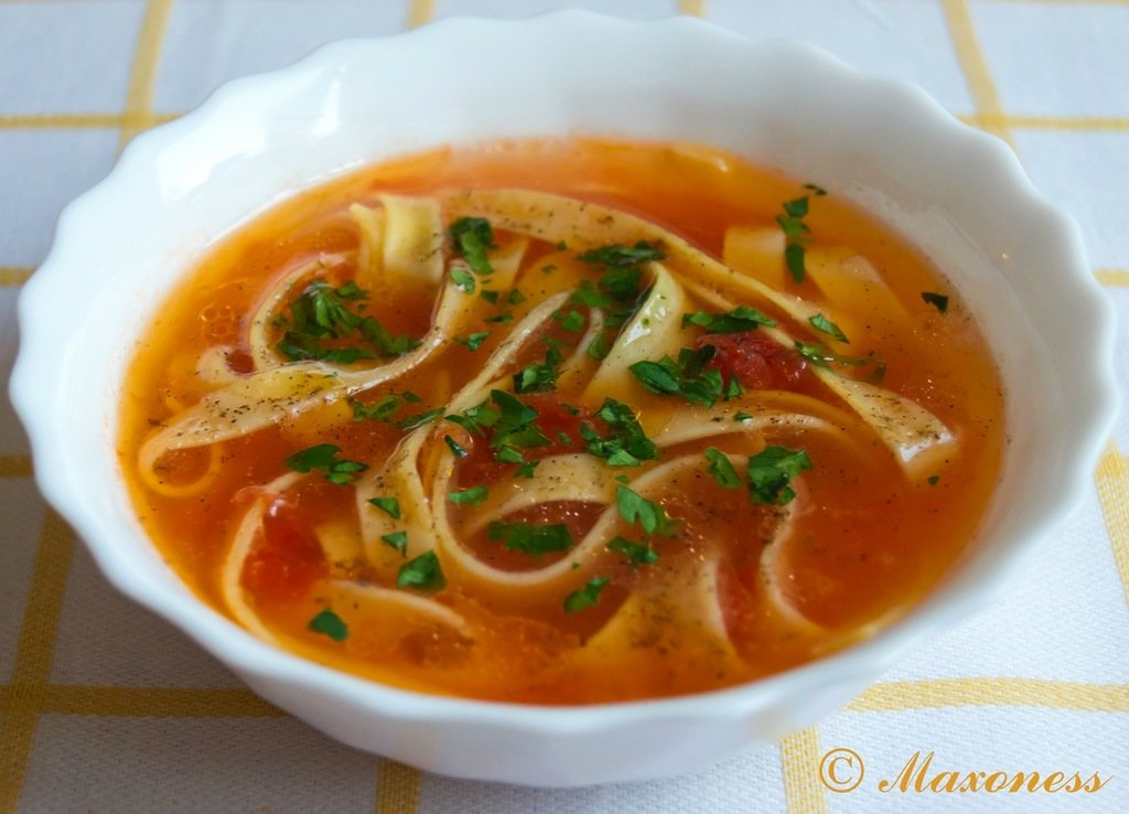 Томатный суп с лапшой рецепт пошагово в