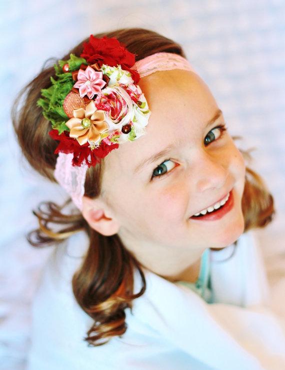Повязки на голову с цветами для девочки своими руками 541