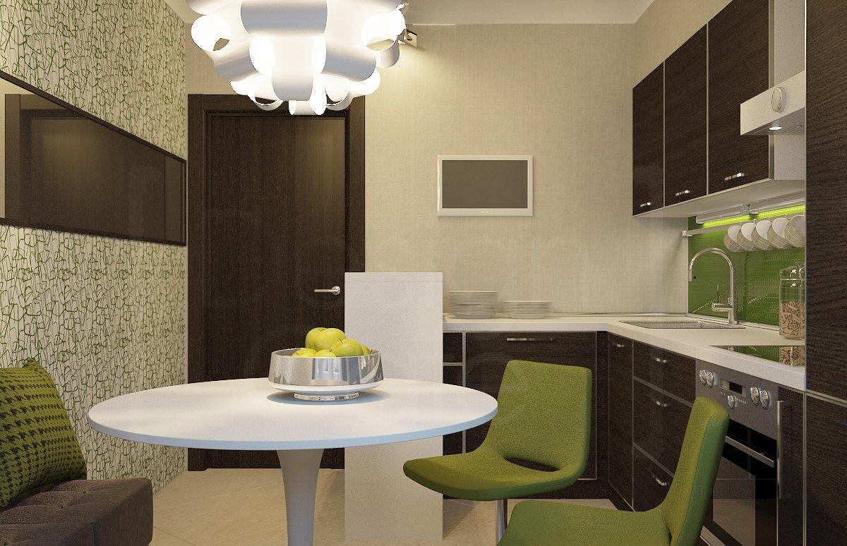 С какими цветами сочетается коричневый в интерьере кухни фото