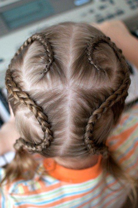 Прическа для маленькой девочки косички