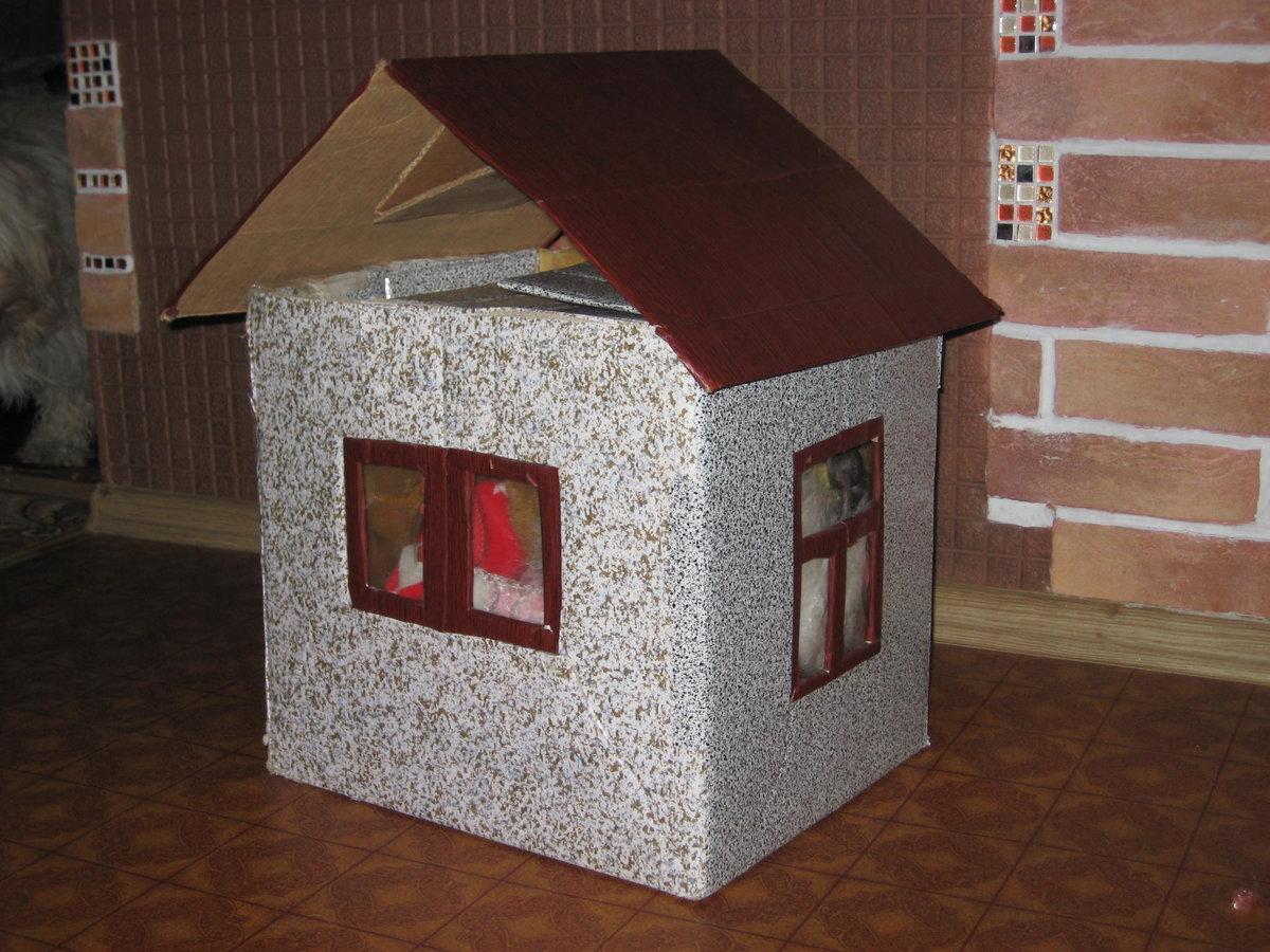Поделки из коробки домик для 335