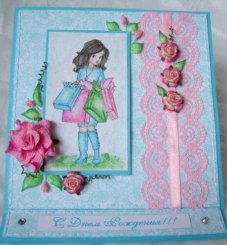 Открытки для детей своими руками на день рождения для девочки