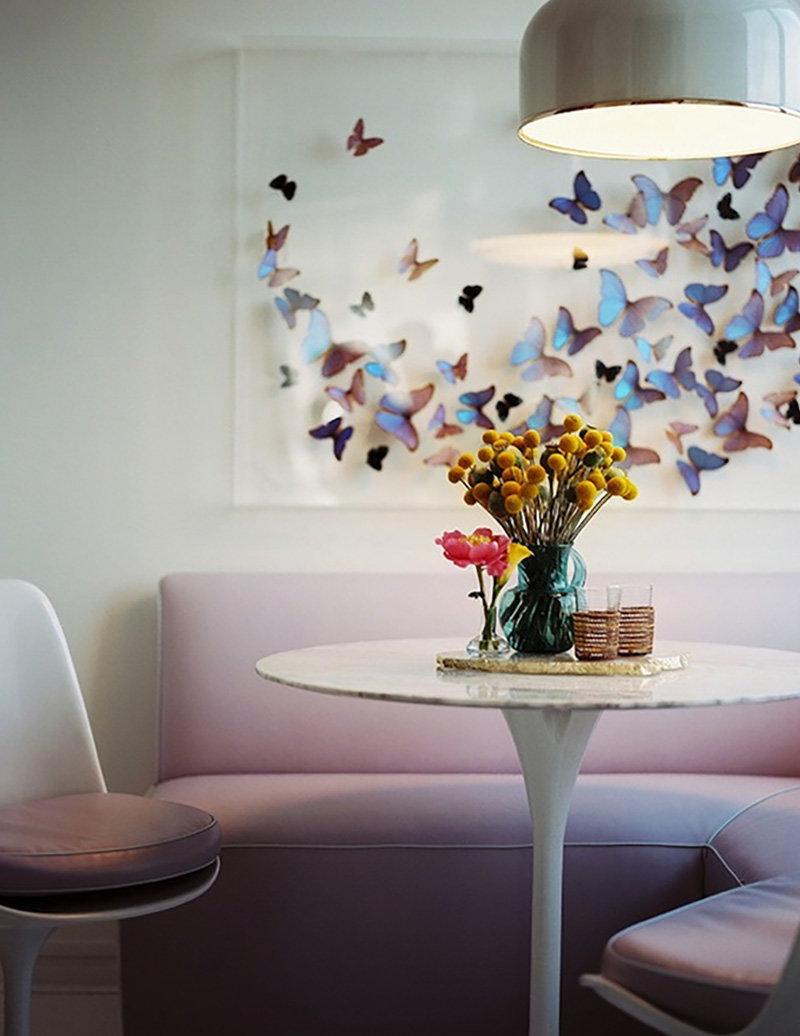 Декор своими руками бабочки на стене своими руками 18