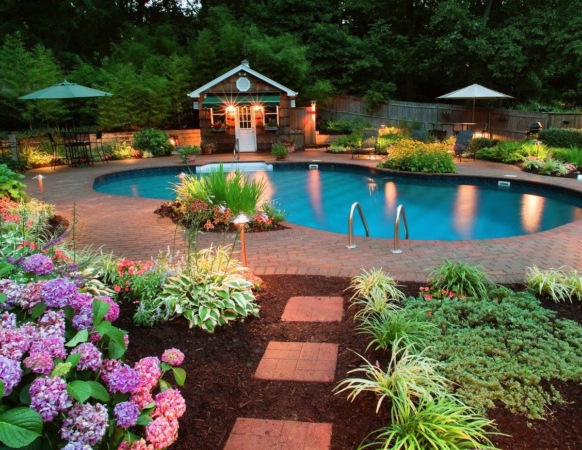 Бассейны во дворе дизайн