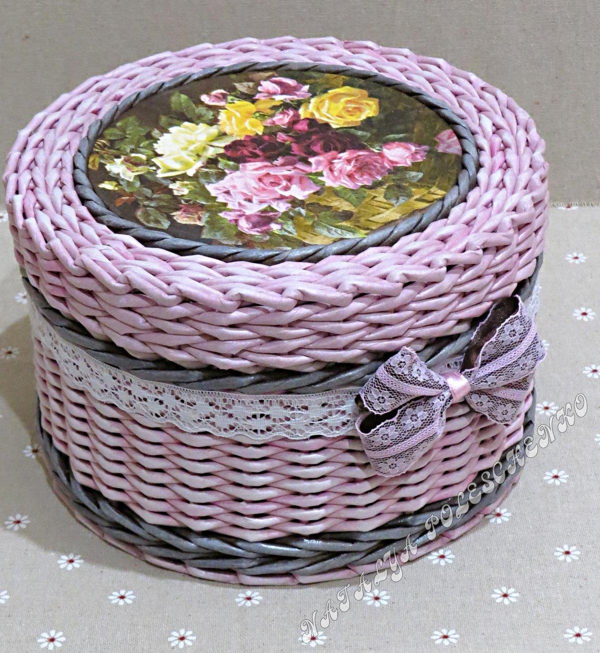 Круглые шкатулки из газетных трубочек мастер класс с пошаговым фото