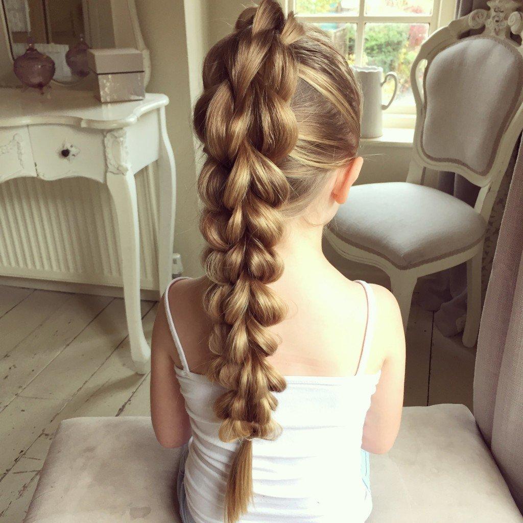 Прически и косы для девочек фото