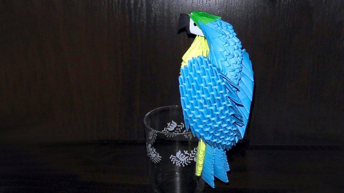 Как сделать попугая ару из бумаги