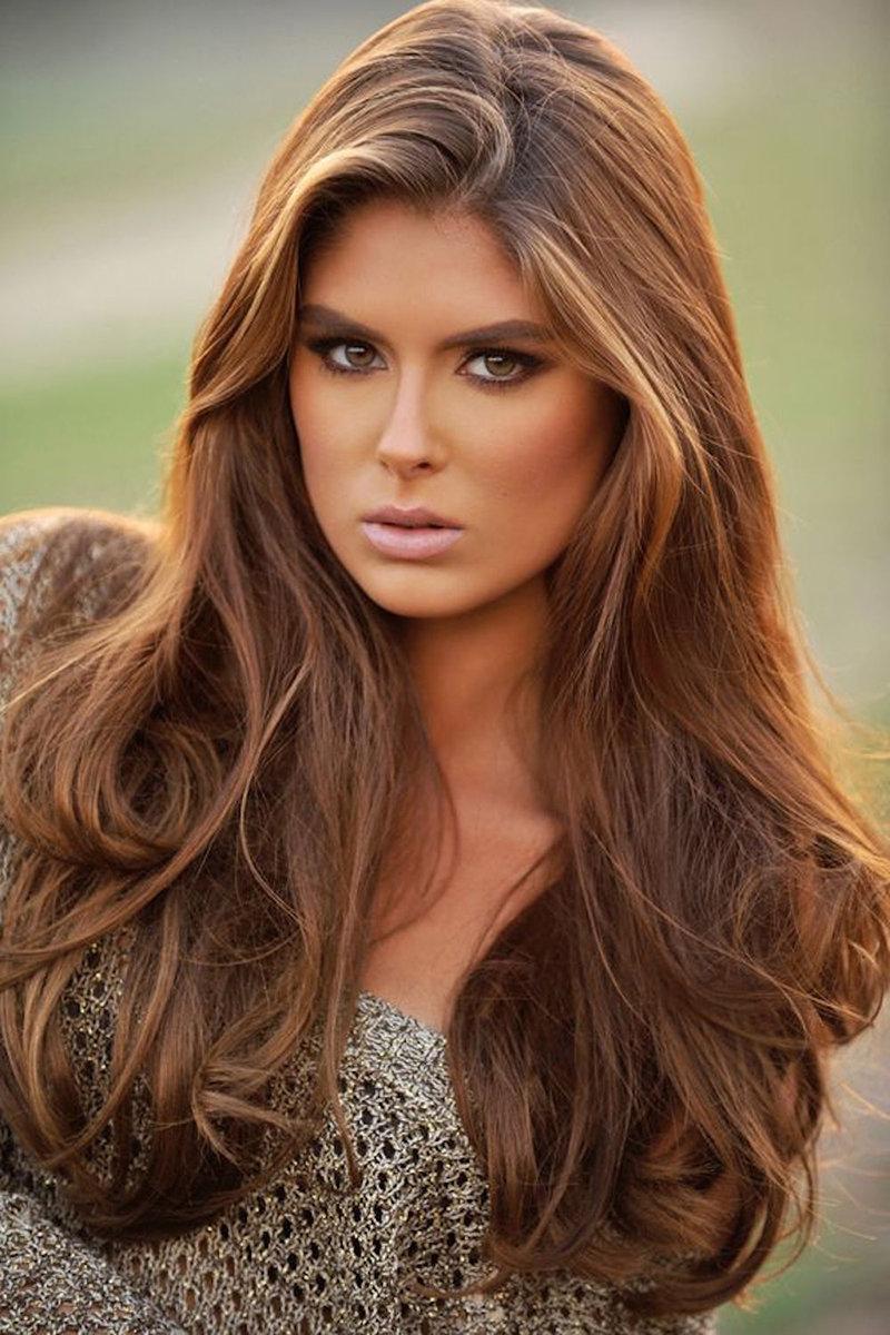 Карамельный цвет на темно русые волосы