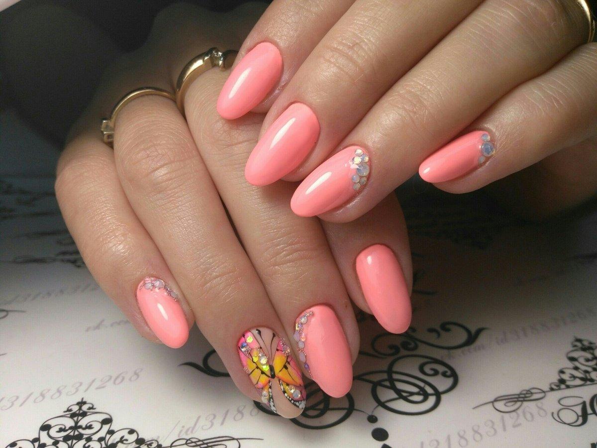 Розовый маникюр дизайн 2017