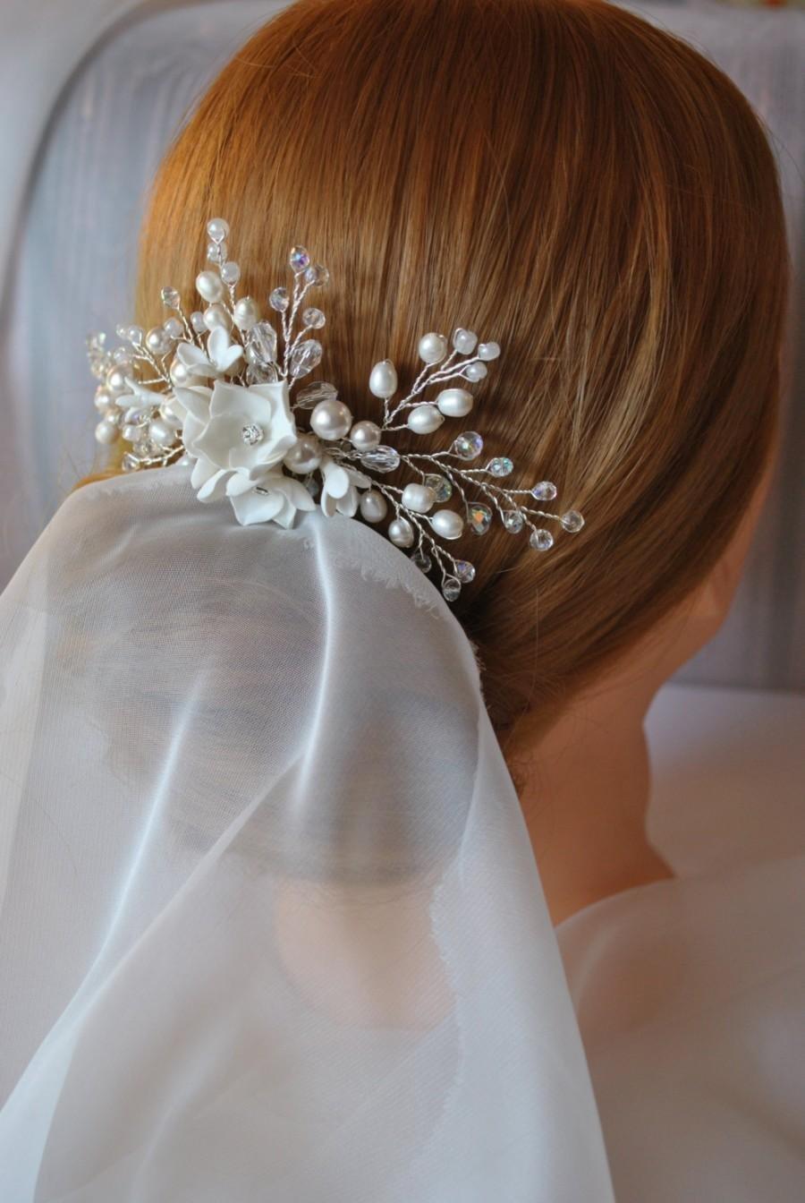 Гребень свадебный для волос своими руками из
