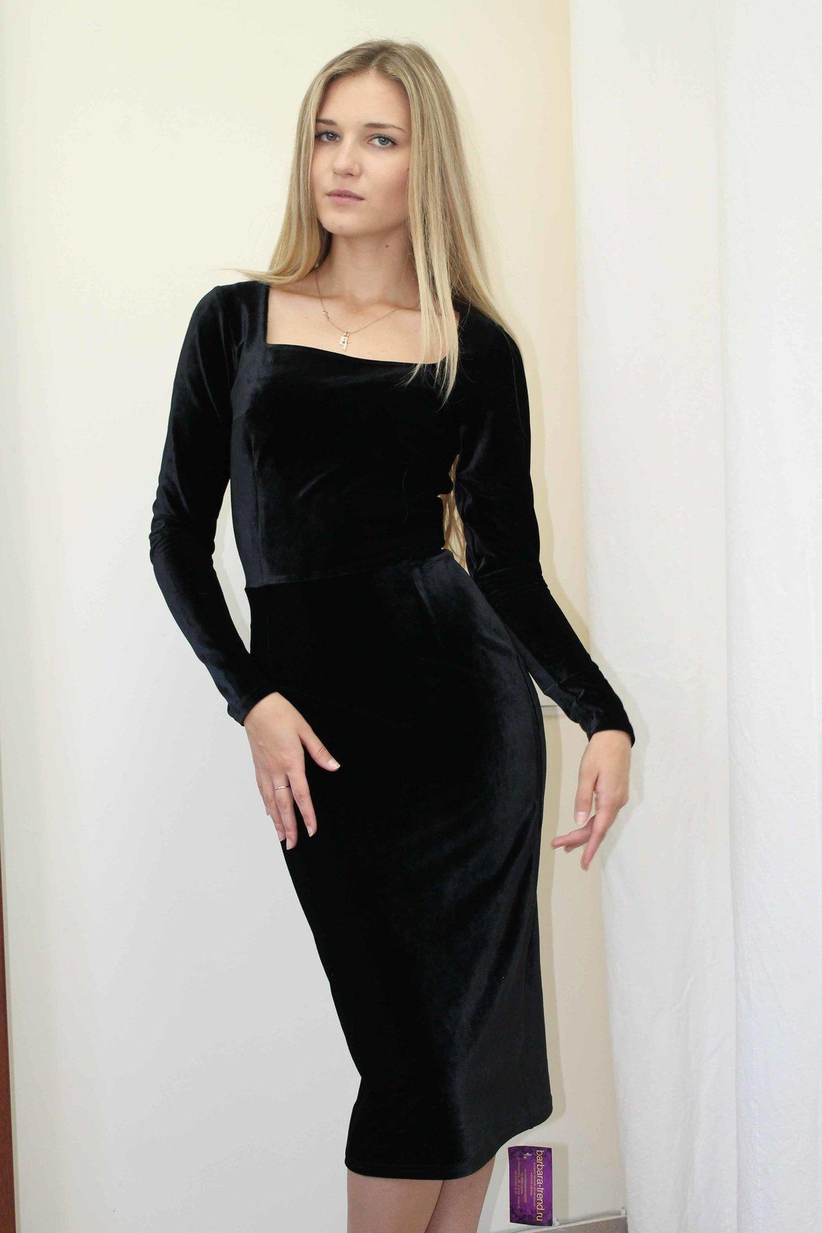 Как сшить маленькое черное платье из бархата 69