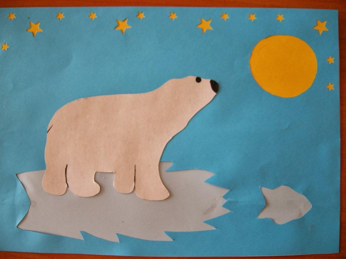 Поделки из бумаги белый медведь