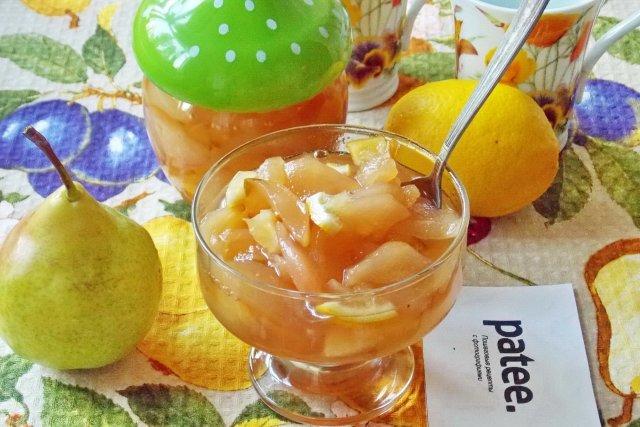 Варенье из груши и лимона рецепт с фото пошагово