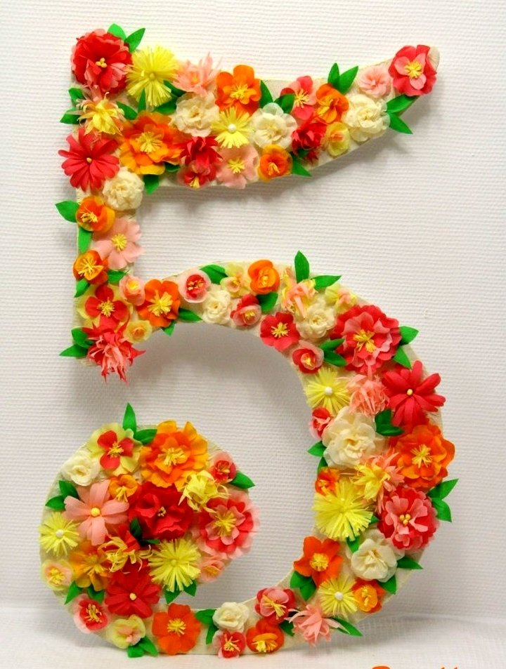 Цифра пять сделать своими руками 633
