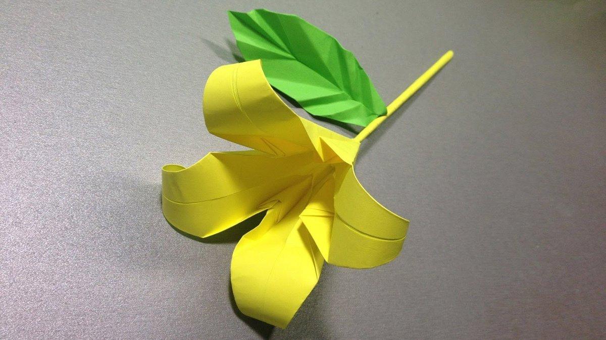Цветочек из бумаги своими руками оригами