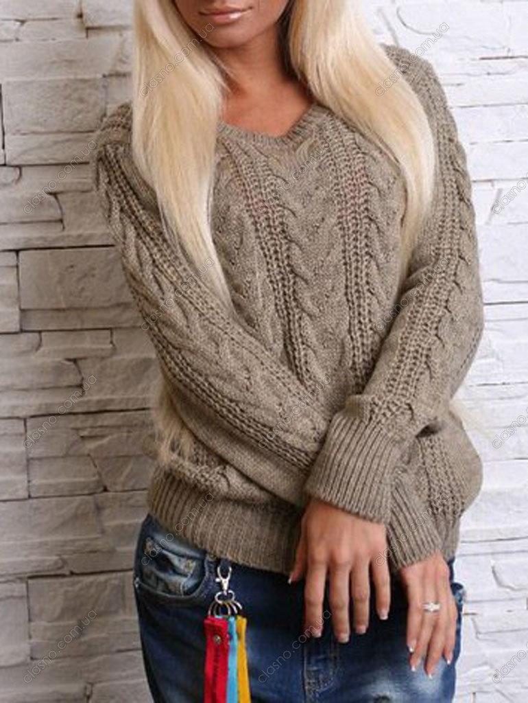 Женские свитера вязаные спицами. 350 фото. Raznoblog - сайт