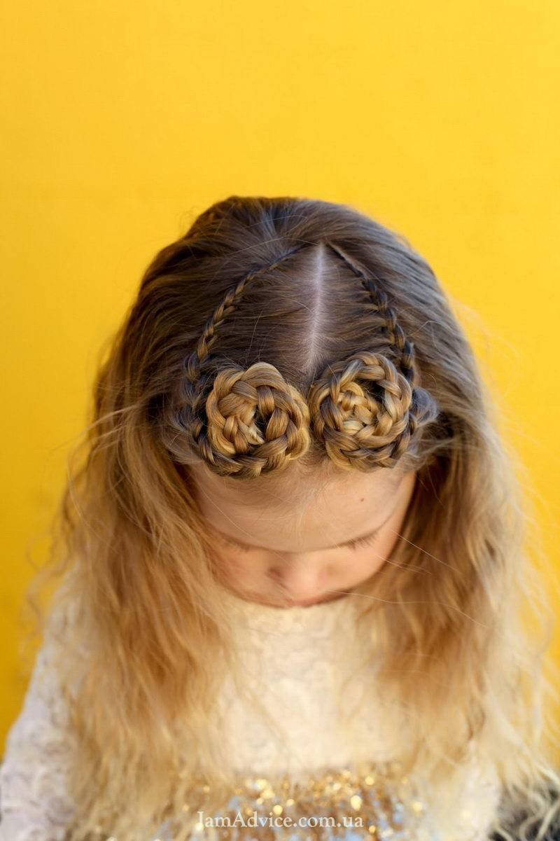 Как заплести рожки из волос девочке