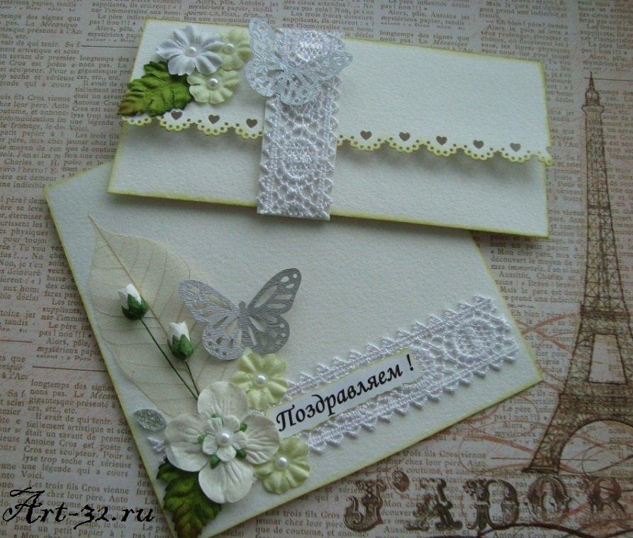 Открытка своими руками на свадьбу с конвертом 11