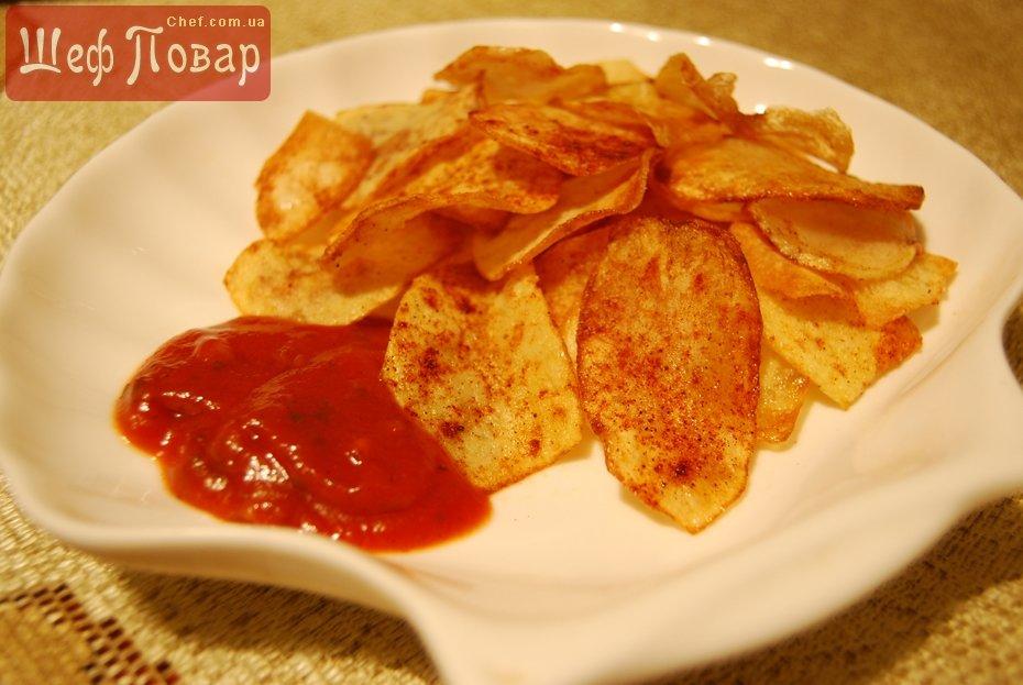 Как сделать чипсы из натуральной картофеля