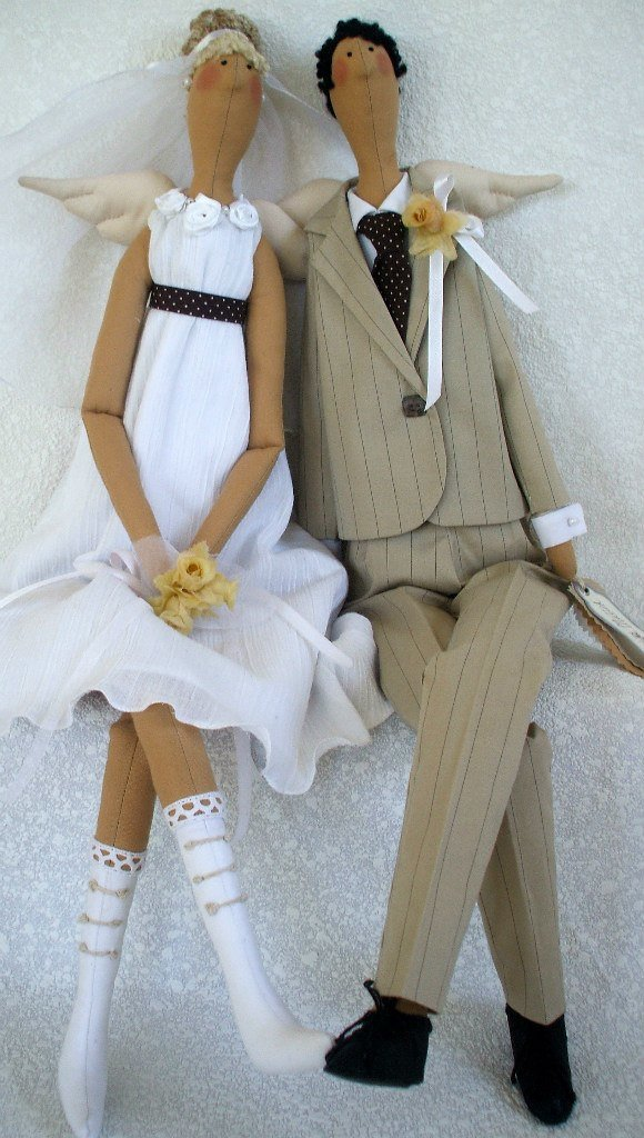 Куклы тильда выкройка жених и невеста