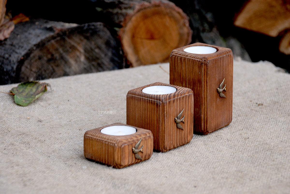 Деревянный подсвечники своими руками 653