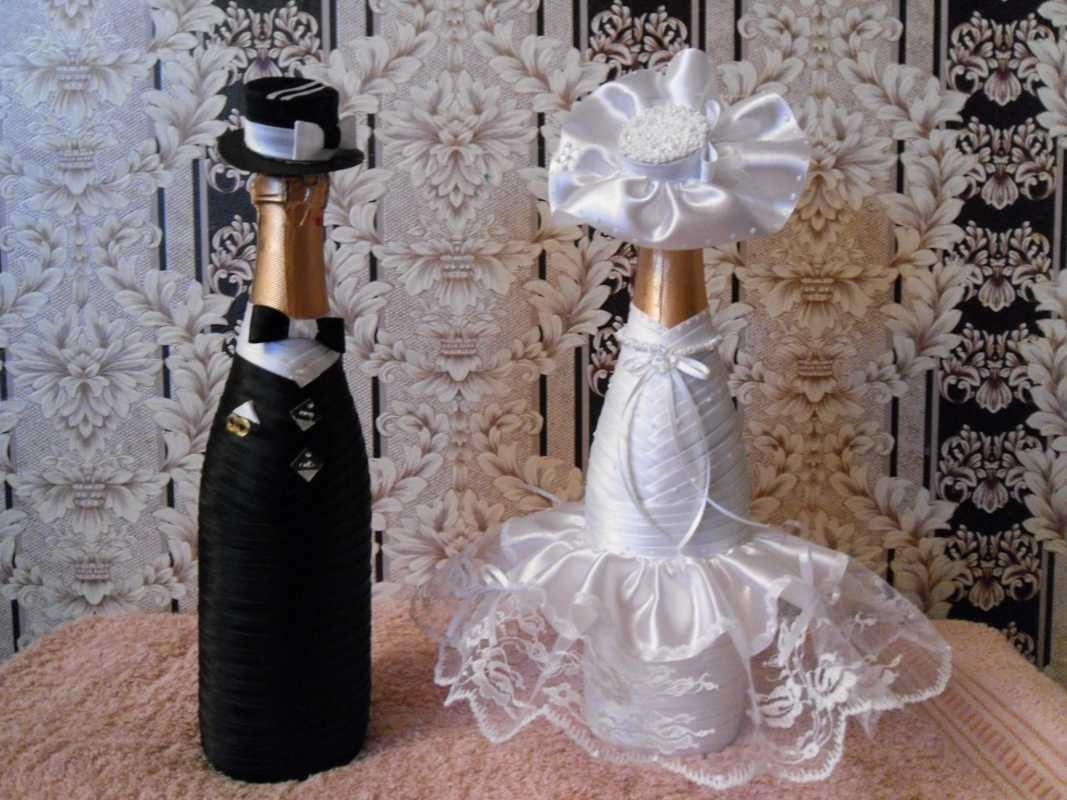 Бутылка шампанского на свадьбу своими руками на годовщину свадьбы 177