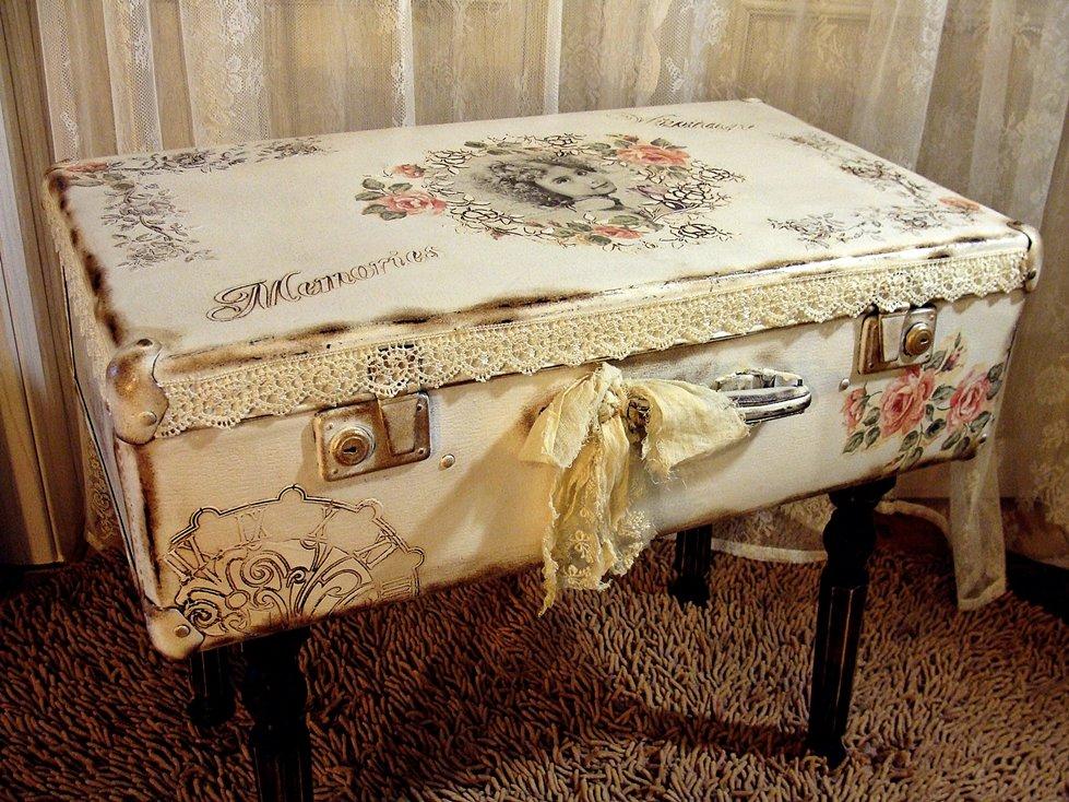 Мастер класс столик из старым чемодана