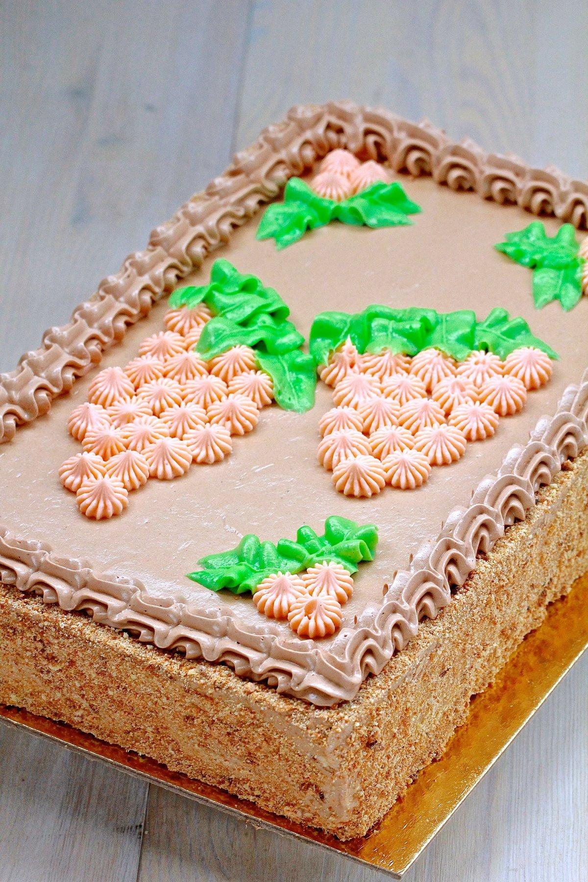 Торт квадратный в домашних условиях 596