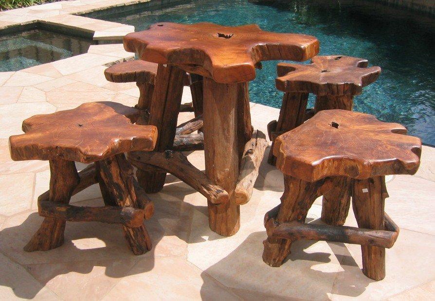 Оригинальная мебель из дерева своими руками фото 77