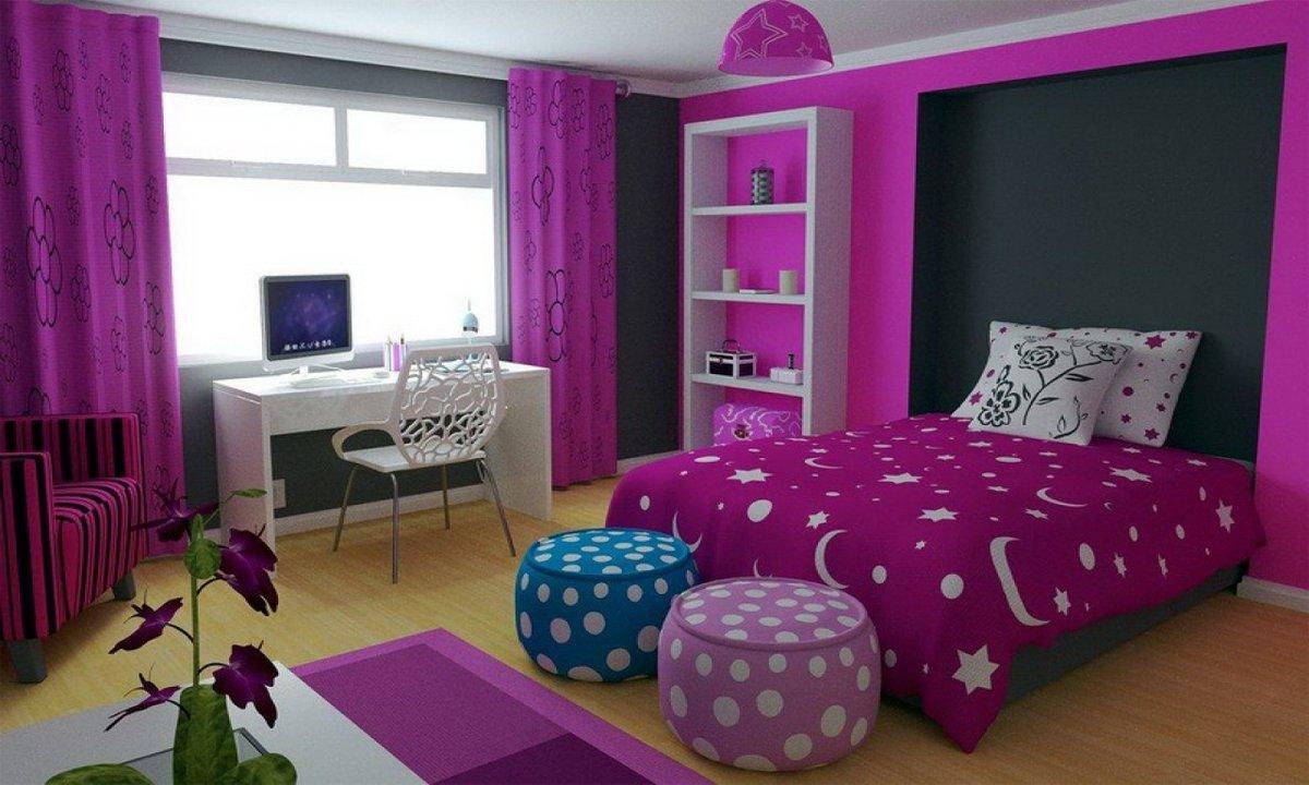 Красивая комната для девочки подростка своими руками 57
