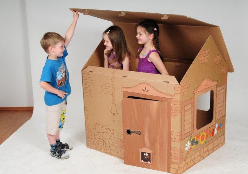 Как сделать домик ребенку самому 437