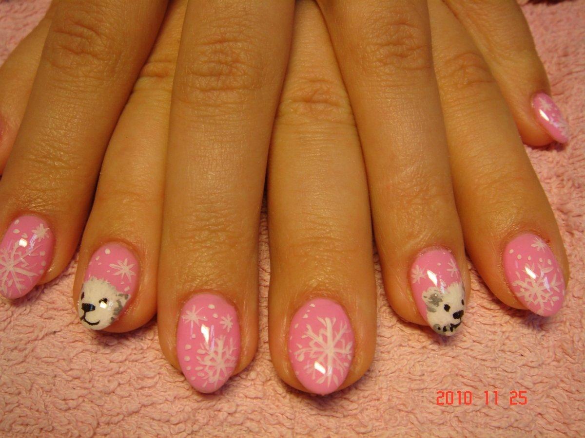 Гелевое наращивание ногтей дизайн фото на короткие ногти