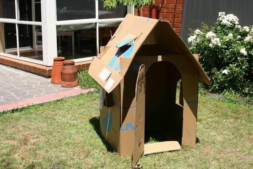 Своими руками картонный домик для детей 87