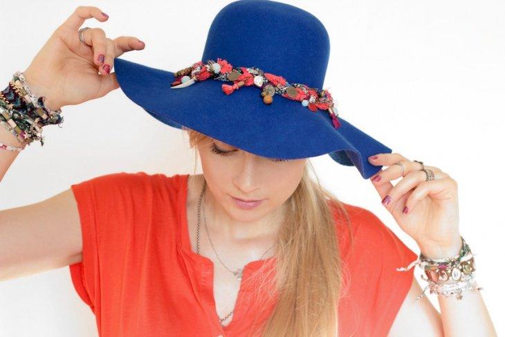 Украшение на шляпку своими руками 875