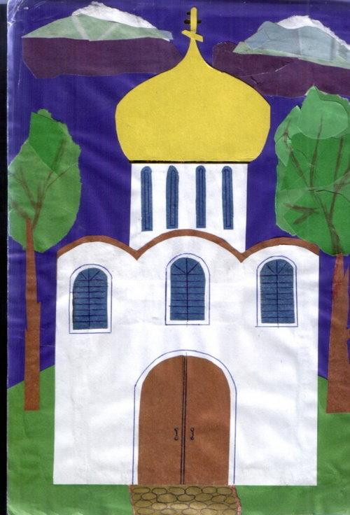 Церковь из цветной бумаги своими руками 12