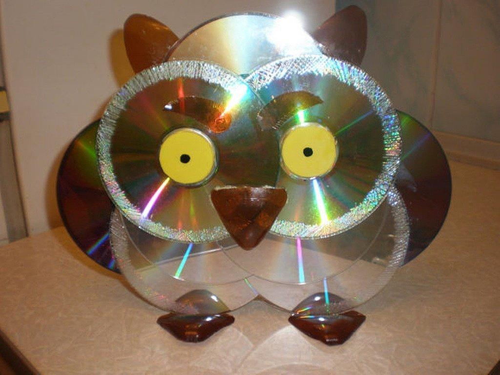 Поделка из дисков своими 87