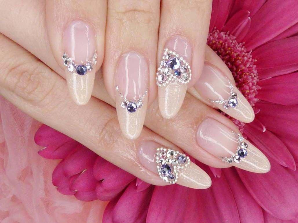Дизайн ногтей с камнями и стразами фото