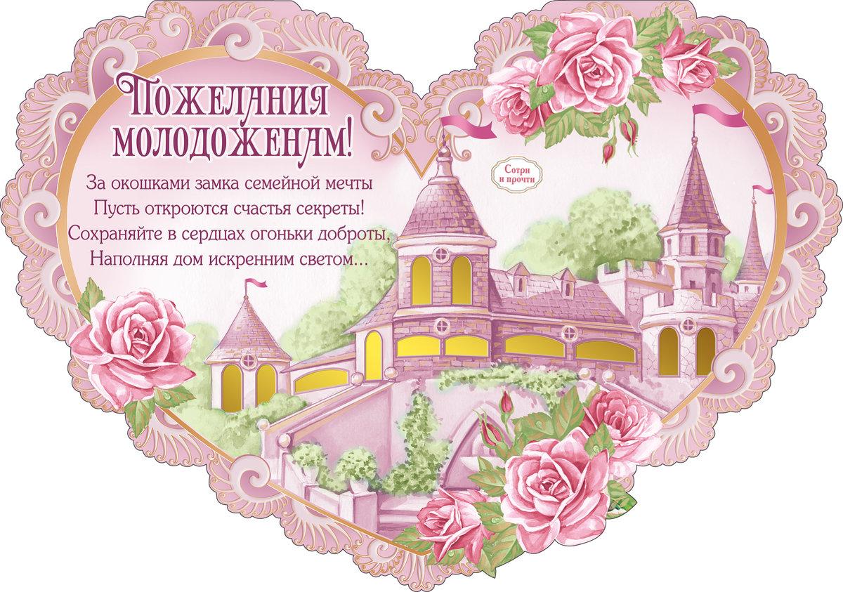 Поздравления на свадьбу молодоженам открытки