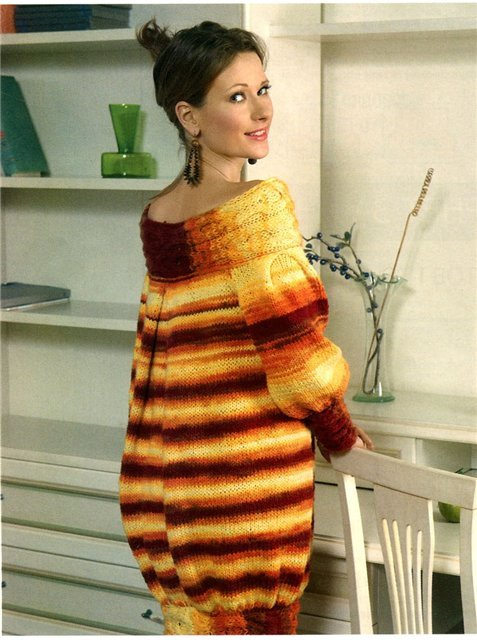 Вязание для беременных спицами платья для 11