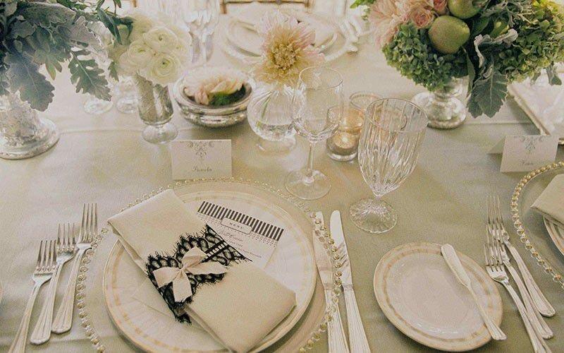 Сервировка свадебного стола своими руками