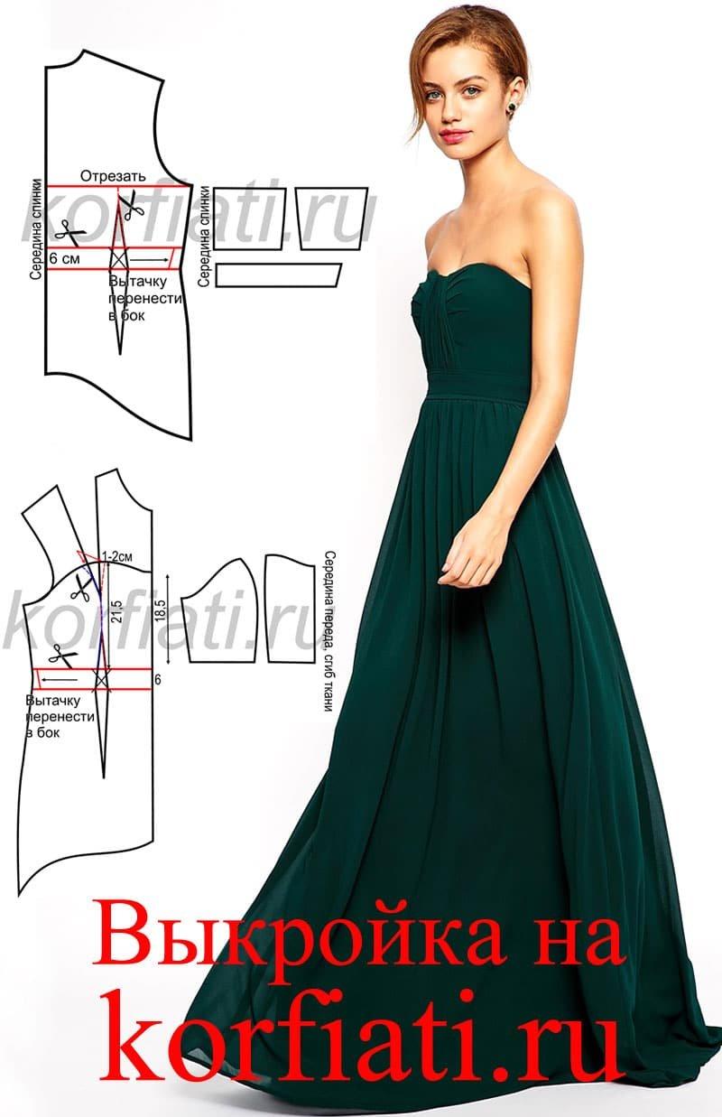 Как сшить несложное вечернее платье 100