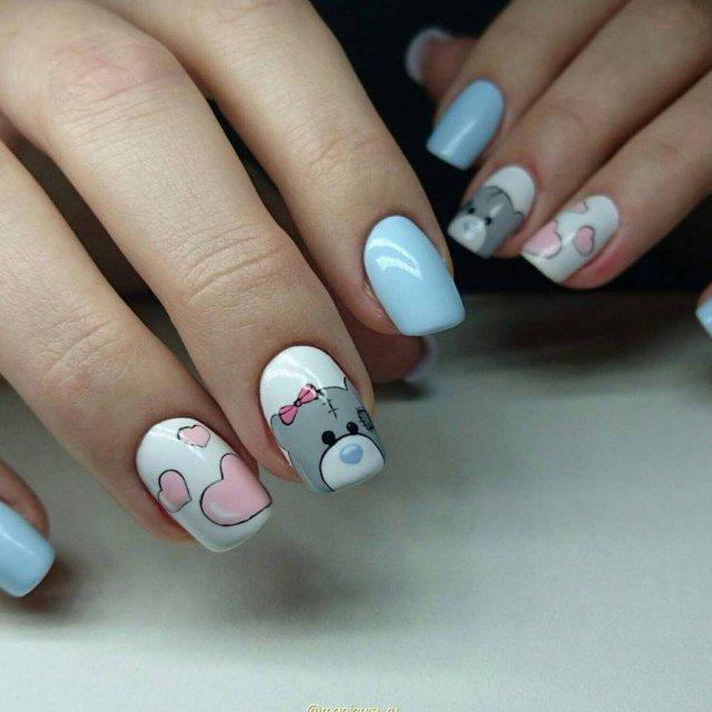 Коралловые Ногти С Рисунком