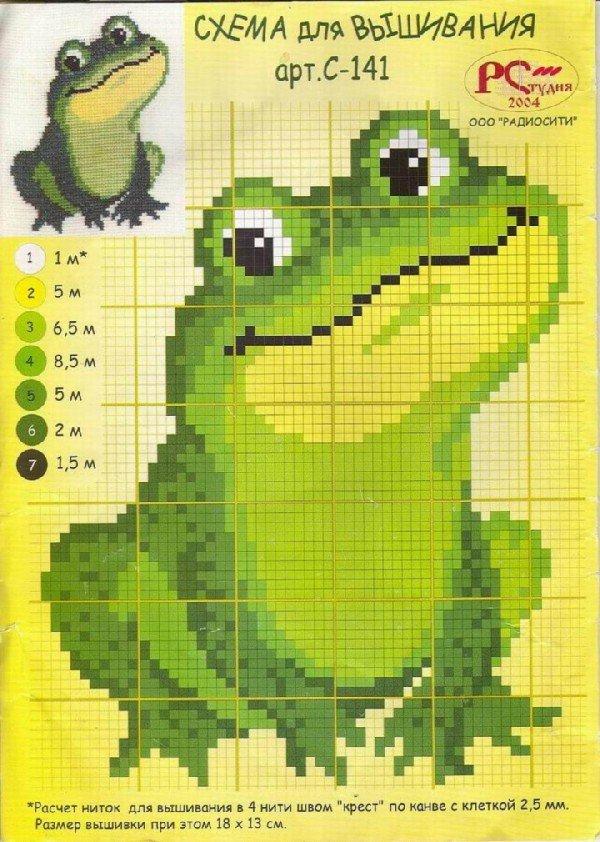 Лягушки схема вышивки 29