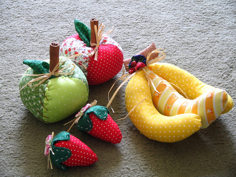 Сделать своими руками фрукты из ткани