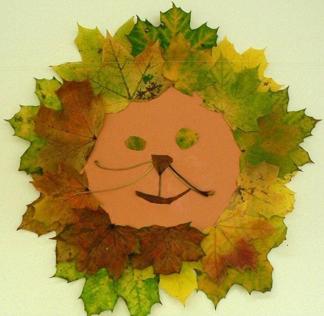 Простые поделки из кленовых листьев 40