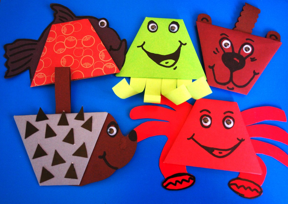 Поделки бумаги картона детей