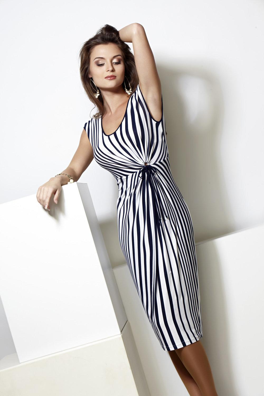 Модели платья в полоску фото